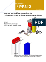 16PUMER PP 307 Injetora Montada Sobre Rodas, Baixa Pressao Manual