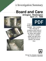Fire Investigation Summary 1-1998