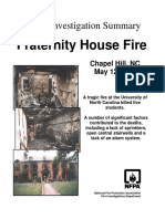 Fire Investigation Summary 7-1996