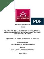 Tesis Victor Ernesto Delgado Montoya El Impacto de La Mineria en El Peru Bajo La Exegesis Del A