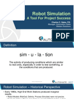 Gales RobotSimulation AToolforProjectSuccess