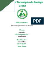 Tarea 1 Bolivar Hernandez Identidad Del Docente