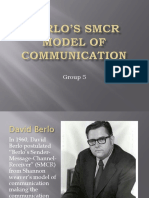 Berlos SMCR Model of Communication Final