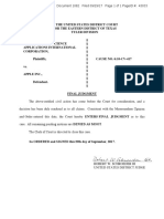 VirnetX vs Apple Final Judgement Summary