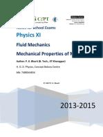 IIT JEE Fluid Mechanics Notes