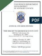 5D CAC Awards Dinner Flyer 2017 10 05