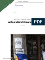 Actualidad Del Marxismo