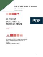 La Prueba de ADN en El Proceso Penal_Gómez Colomer