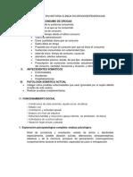 Datos a Recopilar en Historia Clínica en Drogodependencias