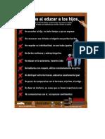 10 Fallos Al Educar a Nuestros Hijos