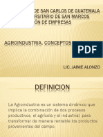 Agroindustria Definicion y Materias Primas