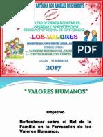 Diapositiva de Valores