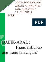 A.p. -Pagbabagong Nagaganap Sa Lalawigan Quarter 2