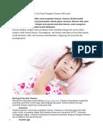 Mengetahui Penyebab Dan Cara Tepat Mengatasi Demam Pada Anak