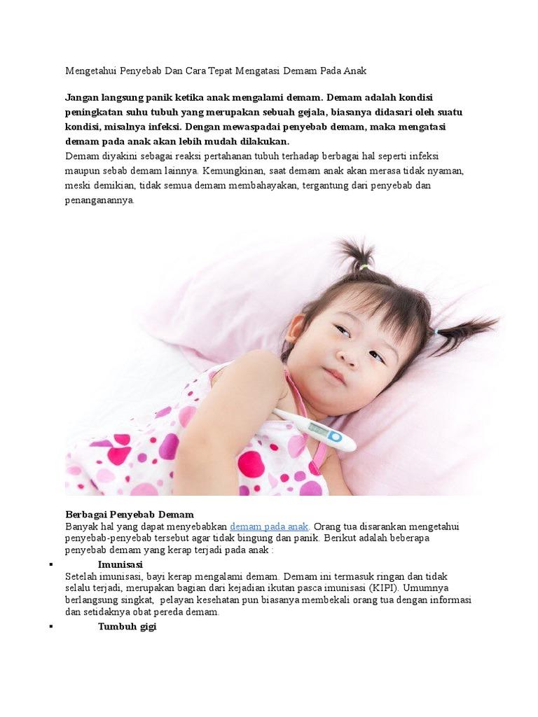 Cara Mengatasi Demam Pada Bayi - Detik Kesehatan