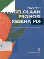 Pedoman Pengelolaan Promosi Kesehatan 2008