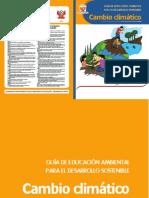 Guía de Educación Ambiental Para El Desarrollo Sostenible Cambio Climático