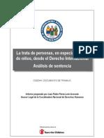 Informe - Trata de personas, en especial la de niños - 2010