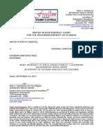 STAN J. CATERBONE, PRO SE APPLICATION FOR AMICUS CURIE IN CASE NO. 17-6003-BSS ESTABAN SANTIAGO RUIZ, FT. LAUDERDALE SHOOTER September 29, 2017