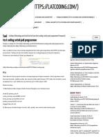 Soal Test Coding Untuk Jadi Programmer - Latcoding
