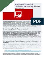 Repară Problemele Care Împiedică Windows Să Pornească