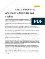 Discovery and the Domestic Affections in Coleridge and Shelley
