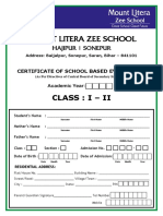 Class I - Report Card