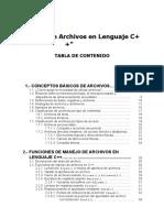 Manejo de Archivos en Lenguaje C++