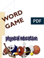 Erielle Cute Physical Education Word Game