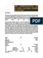 Design and Construction of Under and Over Voltage Power Protection System
