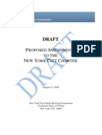 Draft Proposed Amendments to NYC CHARTER Release FINAL