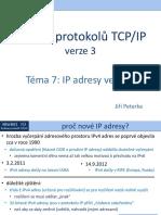 Rodina protokolů TCP/IP, téma 7