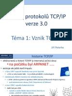 Rodina protokolů TCP/IP, téma 1