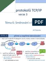 Rodina protokolů TCP/IP, téma 6