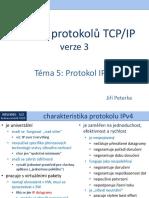 Rodina protokolů TCP/IP, téma 5