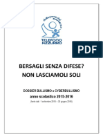 Telefono Azzurro DossierBullismo CampagnaBackToSchool 2016