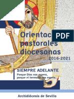 Orientaciones Pastorales Diocesanas 2016