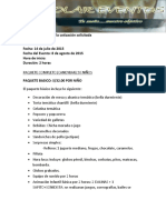 Cotizacion Solar Eventos- Fiestas Infantiles