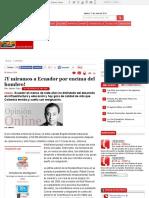 Ecuador y Colombia Comparados Opinión de Javier Cruz, Opinión - Semana.com
