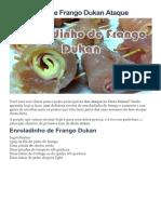Enroladinho de Frango Dukan Ataque