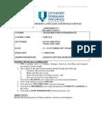 SEM1 SESI 1718_UHF2111_Speaking Test 1 -V2 - Student