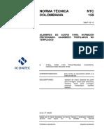 NTC 0159_alambres de acero para concreto pre-tensado.pdf