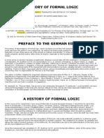 I. M. Bochenski a History of Formal Logic 1961