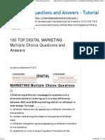 g - 100 Top Digital Marketing Mcqs