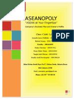 Business Plan ASEANOPOLY - UTS Entrepreneurship