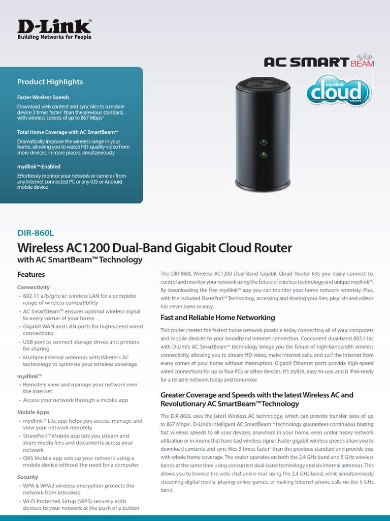 Router D Link DIR_860L_Datasheet_EN   Wireless Lan