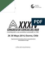 (34) XXXIV Congreso de Ciencias Del Mar 2014