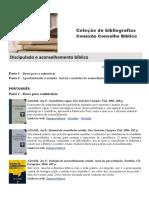 01-Bibliografia Discipulado Aconselhamento