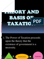 Theory and Basis of Taxation