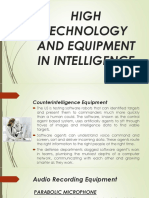 High Technology and Equipment in Intelligence